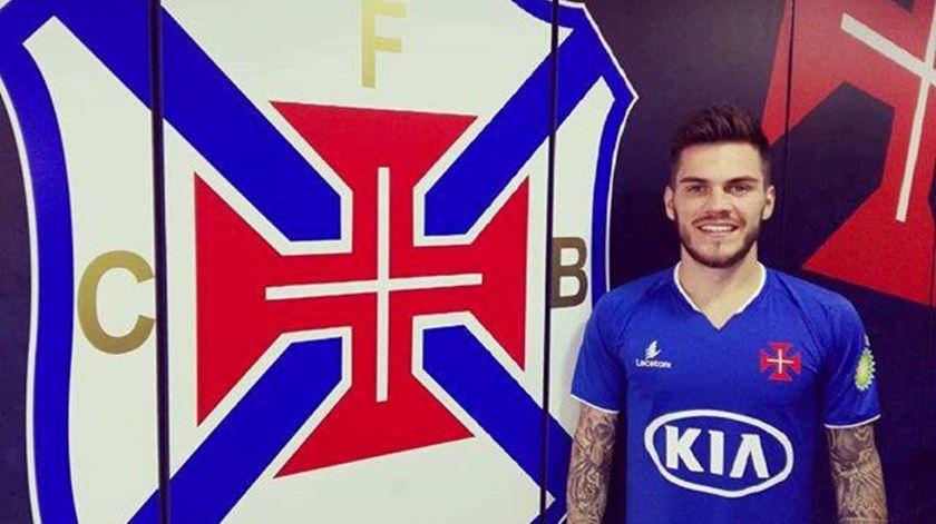 Nathan Souza já treinou no Belenenses. Foto: facebook SAD Belenenses.