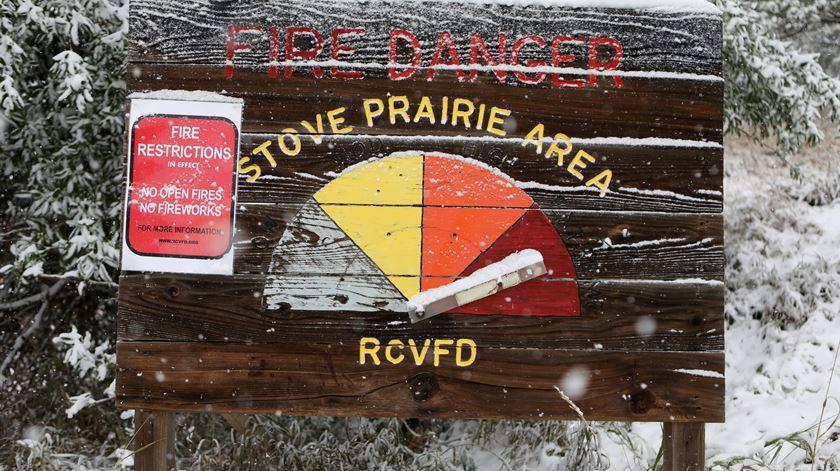 Colorado bate recordes de calor e queda de neve em 48 horas