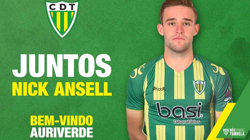 Nick Ansell assinou por duas temporadas com o Tondela. Foto: CD Tondela