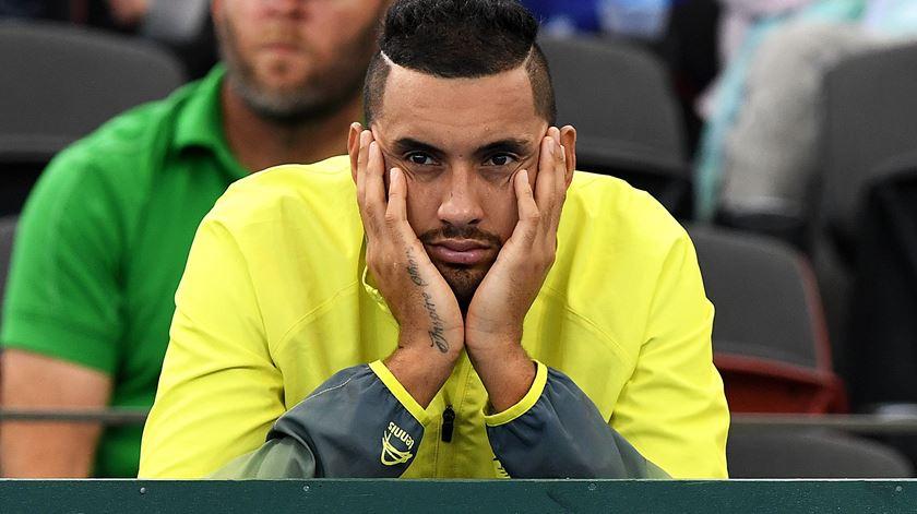 Kyrgios para por lesão e é dúvida para o Estoril Open