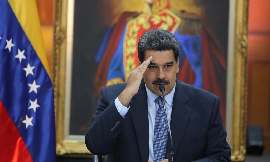 Nicolas Maduro em conferência em Caracas (09/01/19) Foto: Miguel Gutierrez/EPA