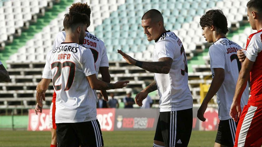Castillo marcou no primeiro jogo da pré-época. Foto: SL Benfica