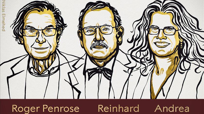 """Nobel da Física atribuído a três cientistas pelos """"segredos negros do universo"""""""
