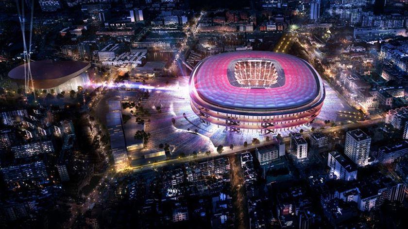 Barcelona revela como vai ficar o Camp Nou em 2023