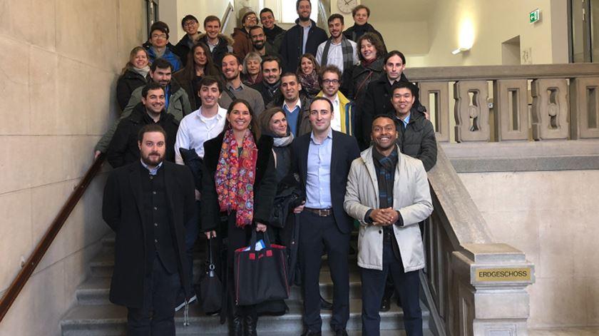 Equipa de investigadores de Nuno Maulide. Foto: Twitter/MaulideGroup