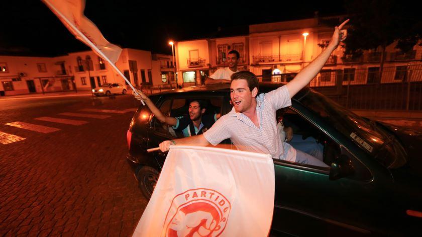 Nestas eleições autárquicas, a noite foi do PS. Foto: Nuno Veiga/Lusa