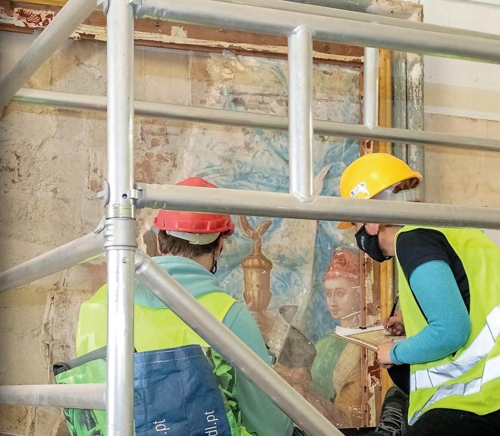 Obras de requalificação na Igreja do Espírito Santo, em Évora. Foto: Universidade de Évora