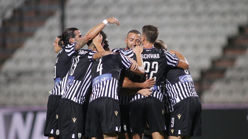 """PAOK de Abel Ferreira perde em Krasnodar na primeira mão do """"play-off"""" da Champions"""