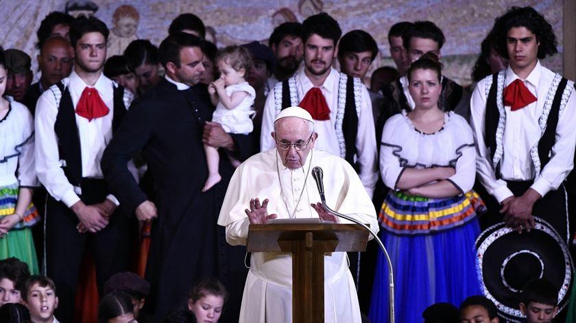 O Papa Francisco em Nomadelfia, a obra do padre Zeno. Foto: Claudio Giovanni/EPA
