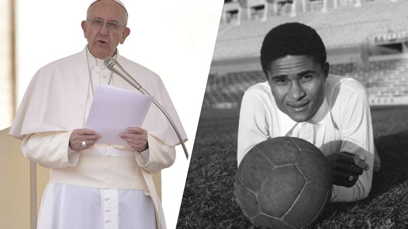 Papa Francisco aponta Eusébio como exemplo de sonho e perseverança