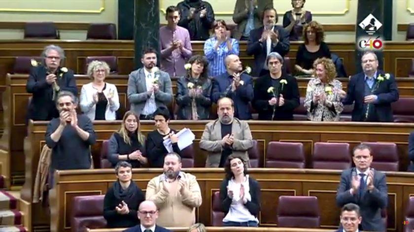 """Catalães cantaram """"Grândola"""" a Marcelo. E Marcelo juntou-se ao coro"""