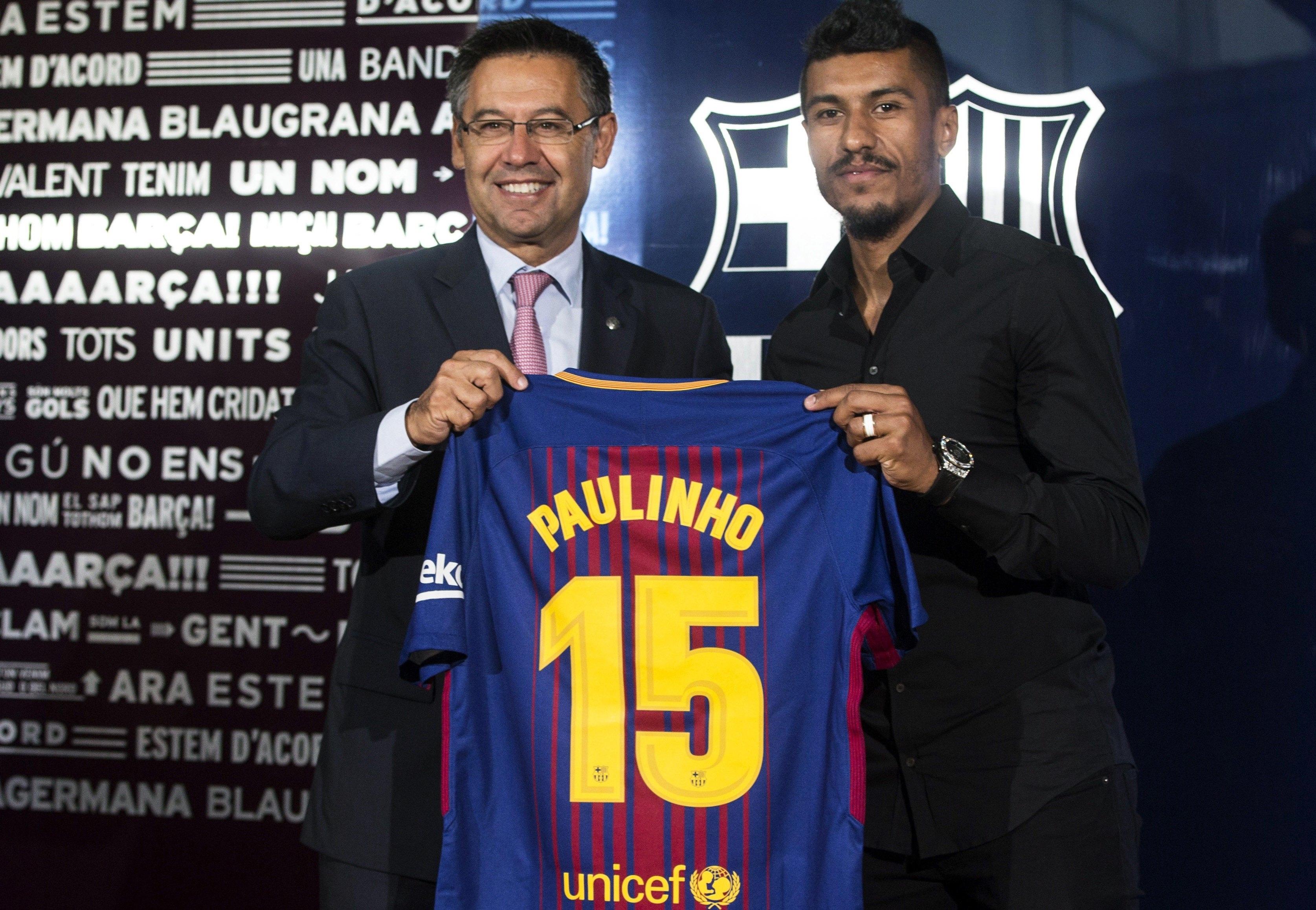 Catalães lançam comunicado sobre transferência de Paulinho — Barcelona