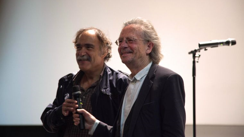 Paulo Branco e Peter Handke. Foto: DR