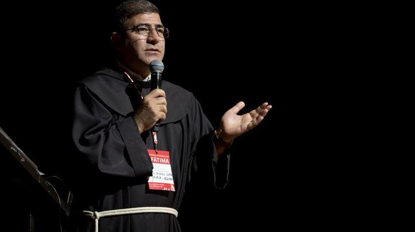 O padre Firas partilha a sua experiência em Alepo durante a peregrinação internacional da fundação. Foto: AIS