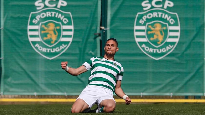 Pedro Mendes, jogador da equipa sub-23 do Sporting. Foto: Pedro mendes