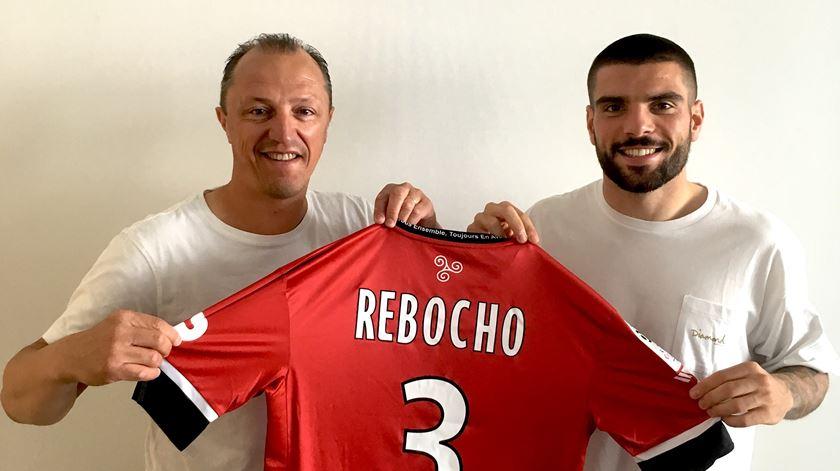 Rebocho já vestiu a camisola do seu novo clube. Foto: EA Guingamp