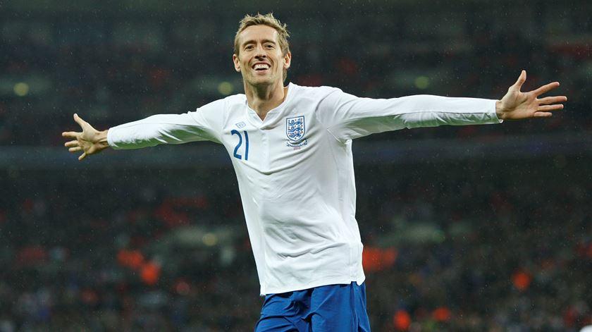 Crouch jogou 42 vezes pela seleção inglesa e marcou 22 golos. Foto: Action Images/Reuters