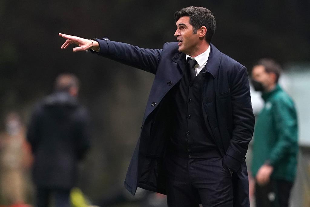 Paulo Fonseca não dá a eliminatória com o Braga como resolvida Foto: Hugo Delgado/Lusa