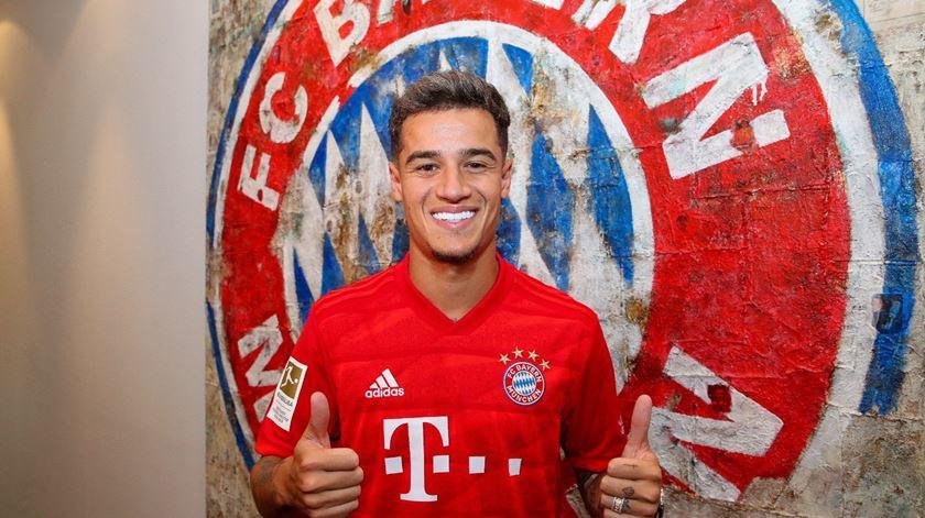 Philippe Coutinho já veste camisola do Bayern Munique