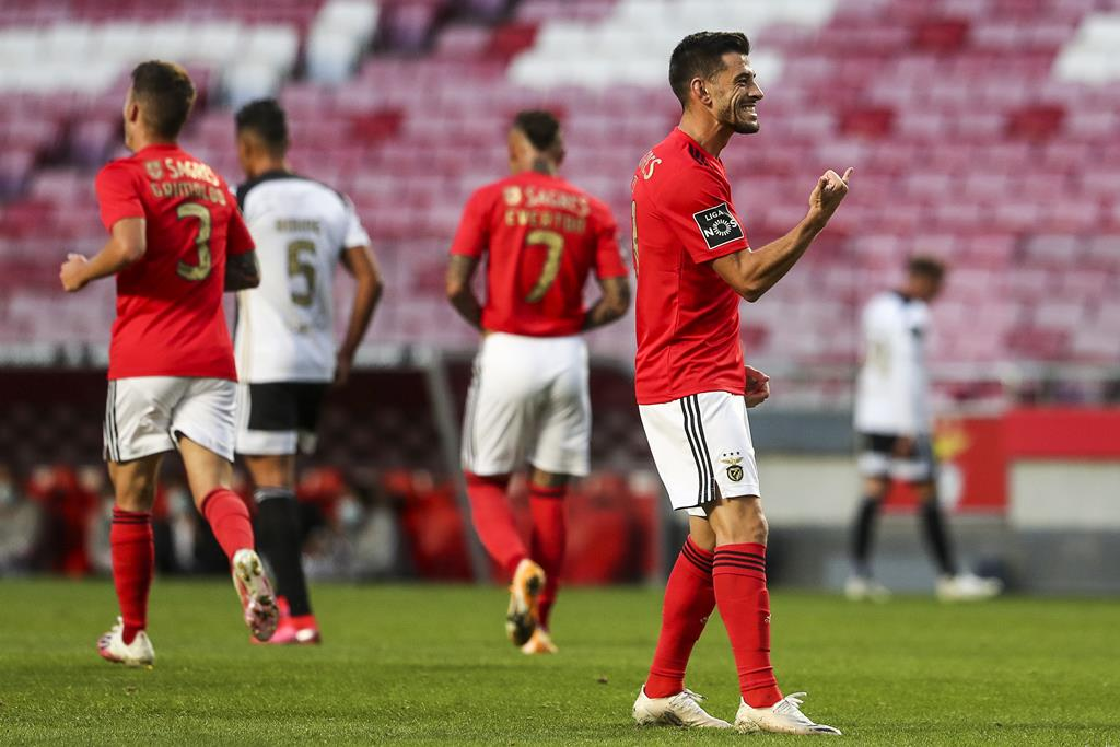 Pizzi é um dos capitães do Benfica e garante total confiança em Jorge Jesus Foto: José Sena Goulão/Lusa