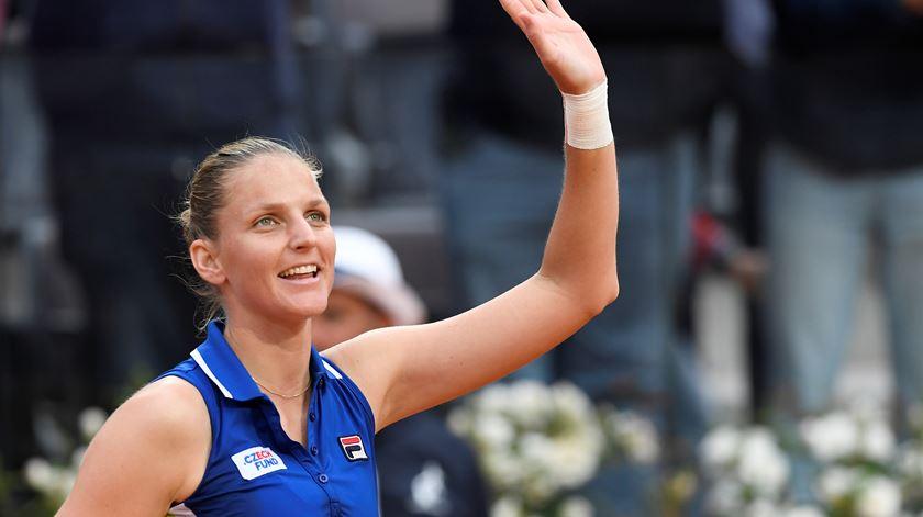 """Vitória em Roma eleva Pliskova ao pódio do """"ranking"""" WTA"""