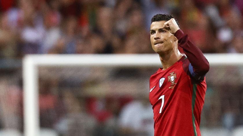 Cristiano Ronaldo capitaneia equipa das quinas na Rússia. Foto: Fernando Veludo/Lusa