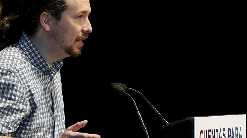 Pablo Iglesias, líder do Podemos. Foto: Ballesteros/EPA