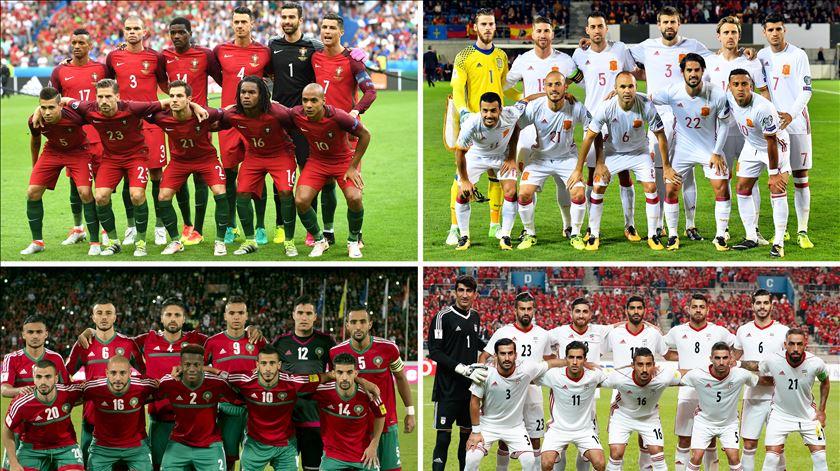 Espanha, Marrocos e Irão integram o grupo de Portugal. Foto: EPA