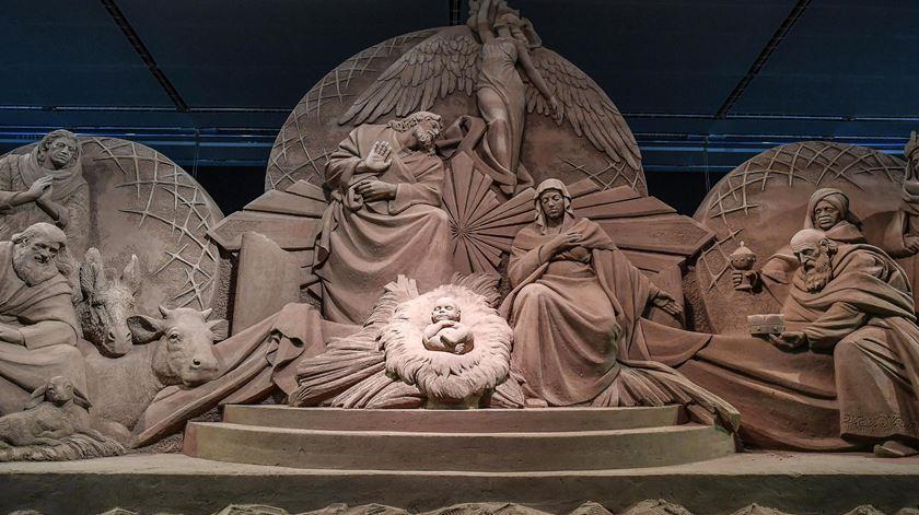 Presépio de areia com 700 tolenadas inaugurado no Vaticano