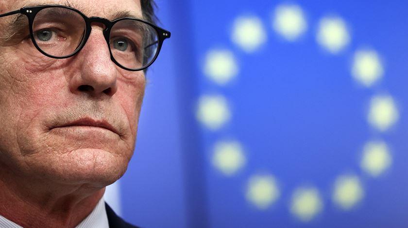 Presidente do Parlamento Europeu, David Sassoli, na reunião do orcamento europeu em Bruxelas. Foto: EPA