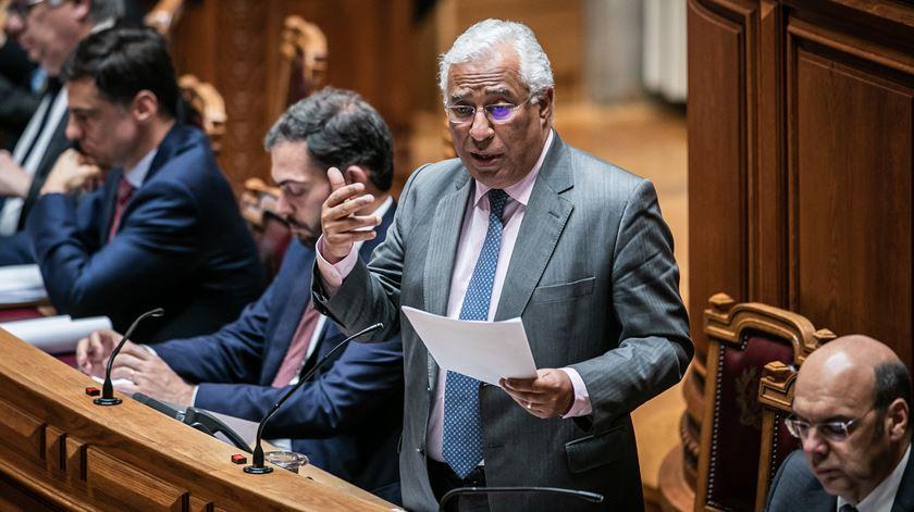 Primeiro-ministro, António Costa, durante o debate quinzenal. Foto: José Sena Goulão/Lusa