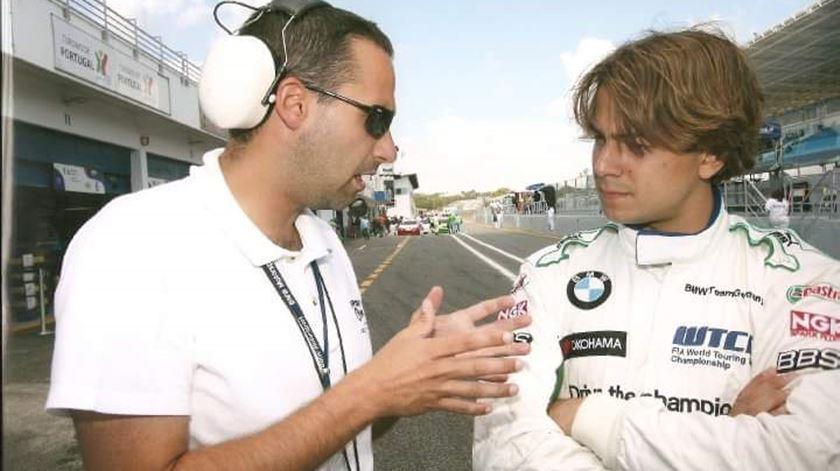 Nuno Pinto é treinador de pilotos, atualmente exclusivamente dedicado a Lance Stroll, da Racing Point. Foto: Facebook