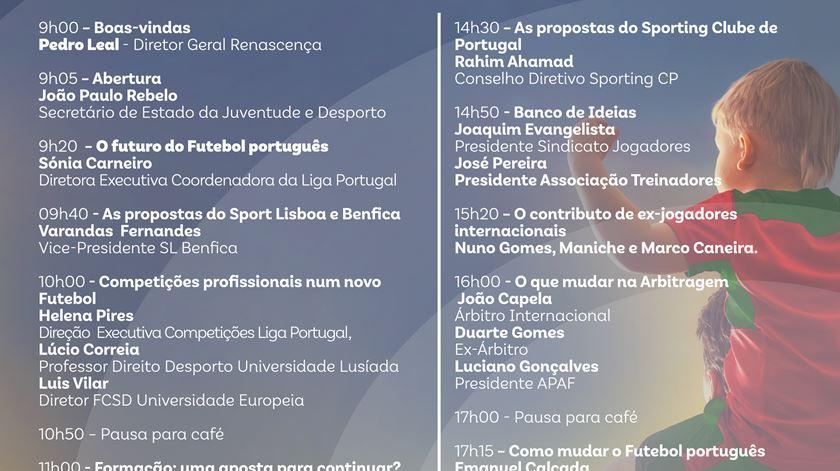 Programa da I Conferência Bola Branca