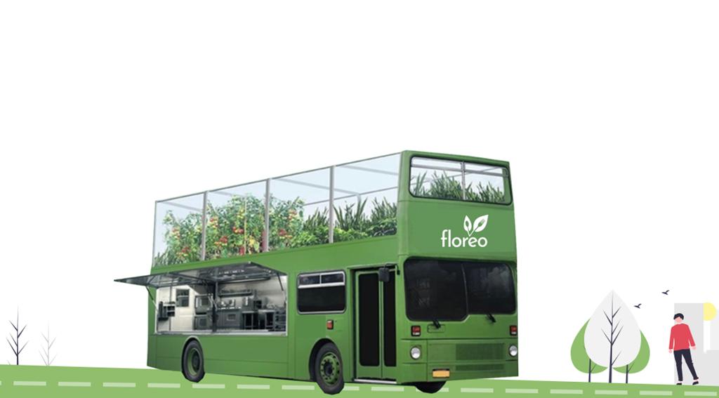 Um autocarro com cozinha, horta e mercado. O projeto ganhou um prémio nacional. Foto: DR