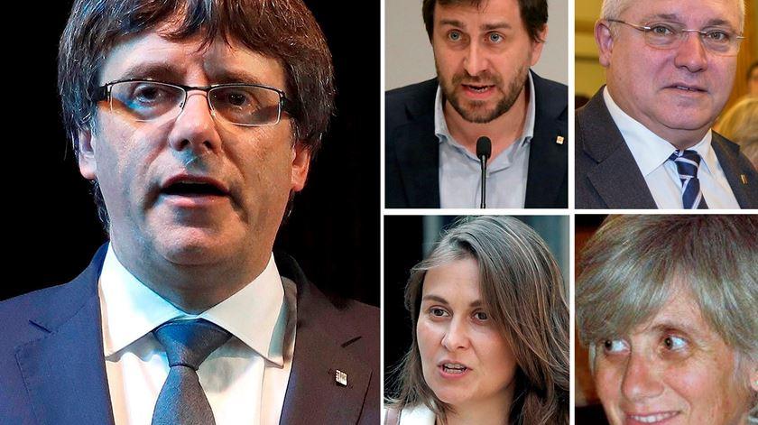 Puigdemont e quatro ex-ministros entregam-se à polícia belga