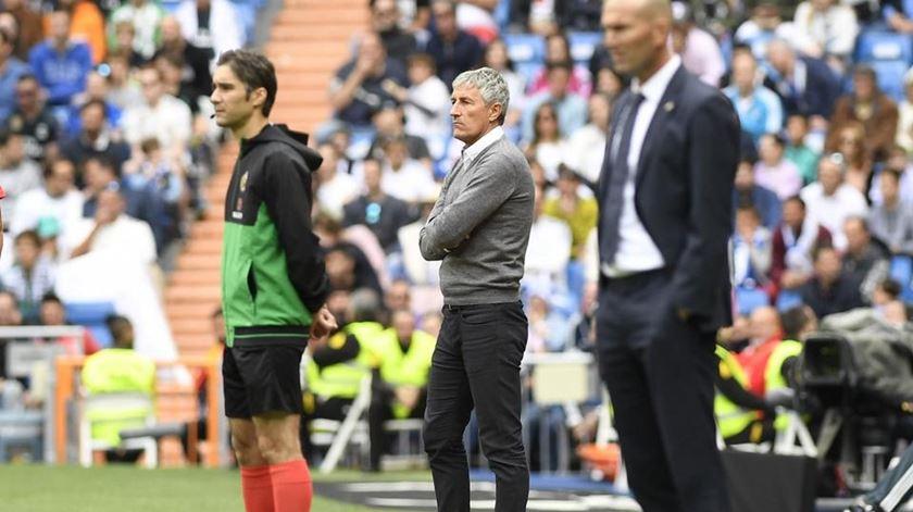 Quique Setién está sem clube, desde que deixou a Andaluzia. Foto: Bétis