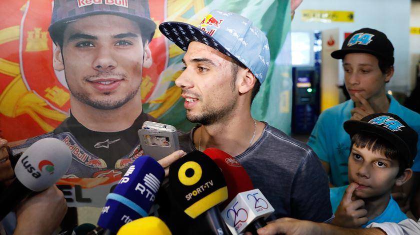 Chegada a Lisboa do piloto Miguel Oliveira