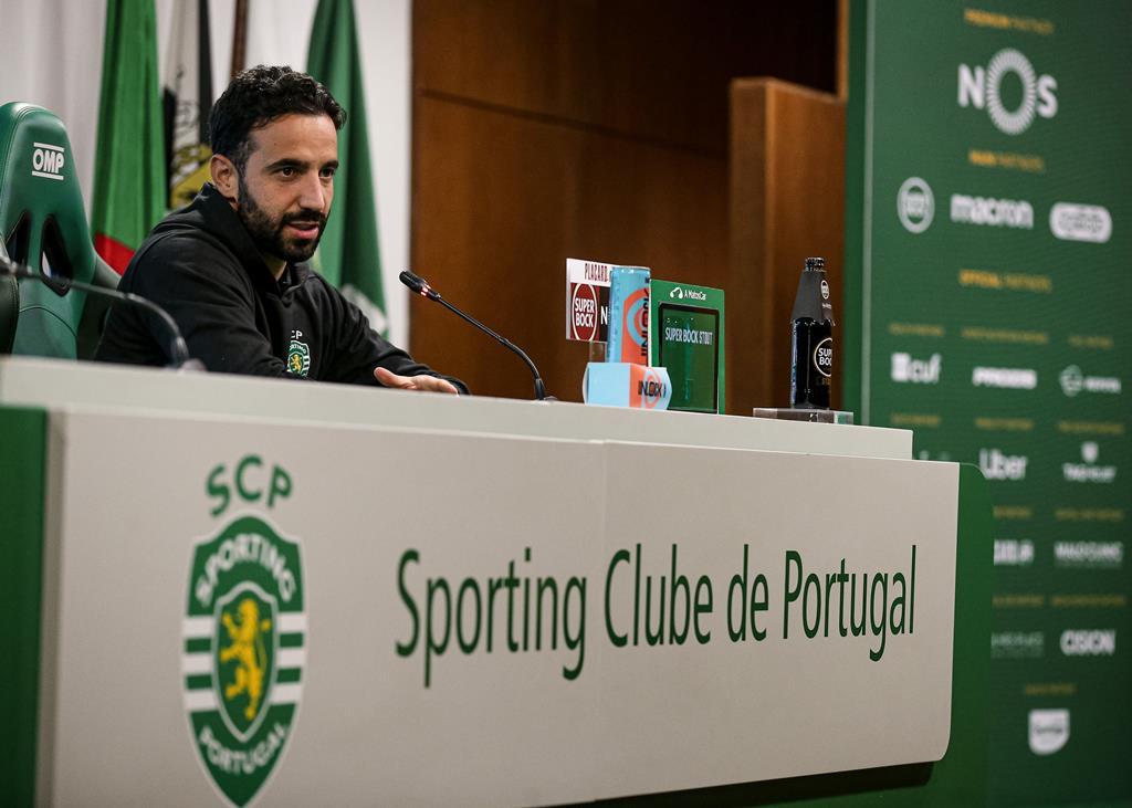 """Rúben Amorim assegura que os jogadores do Sporting estão """"tranquilos"""", apesar dos resultados recentes Foto: SCP"""
