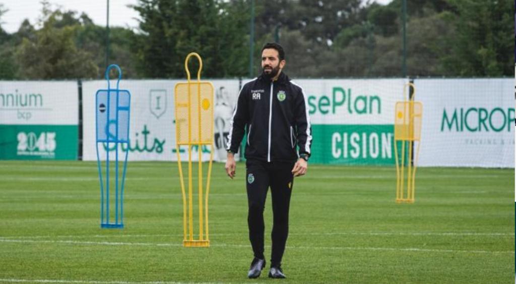 Rúben Amorim, treino Sporting. Foto: SCP