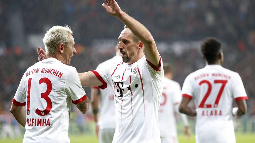 Ribéry assinou o segundo dos bávaros em Leverkusen. Foto: EPA