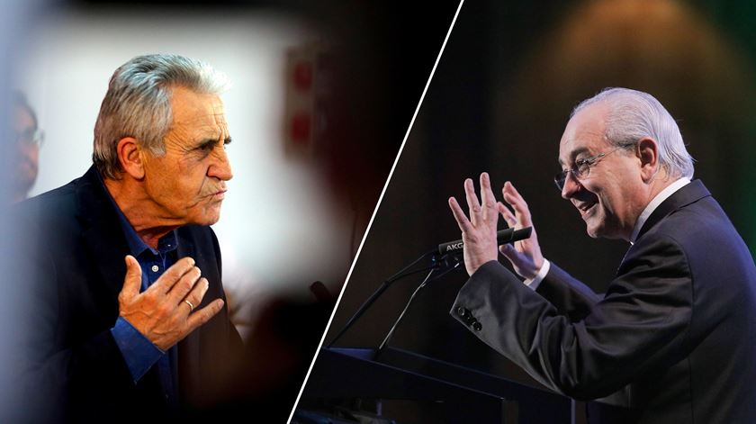 Rui Rio, presidente do PSD, e Jerónimo de Sousa, secretário-geral do PCP. Foto: DR