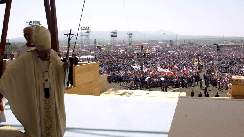 João Paulo II na Jornada Mundial da Juventude de Roma, em 2000 Foto: Reuters