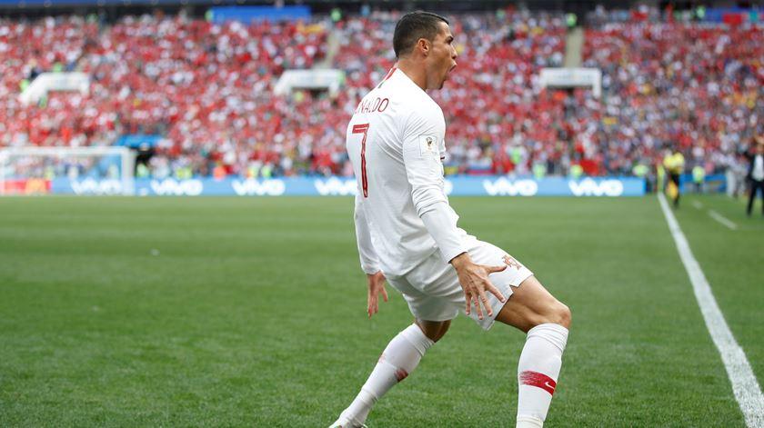 Portugal-Marrocos. Ronaldo abre o marcador ao quarto minuto