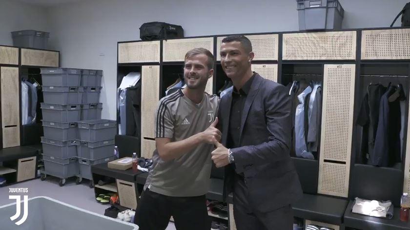 Ronaldo já canta pela Juve