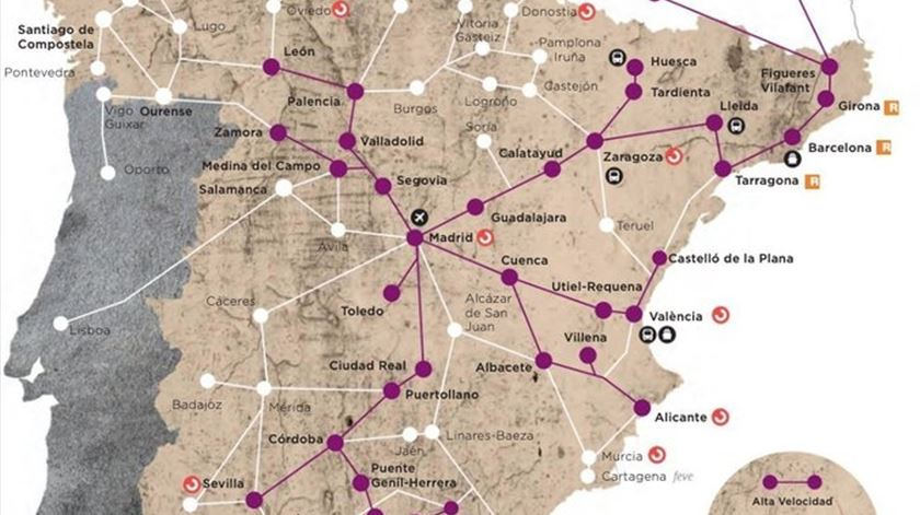 Um mapa espanhol que coloca o Porto em Viseu? O erro é da Renfe, que já pediu desculpa
