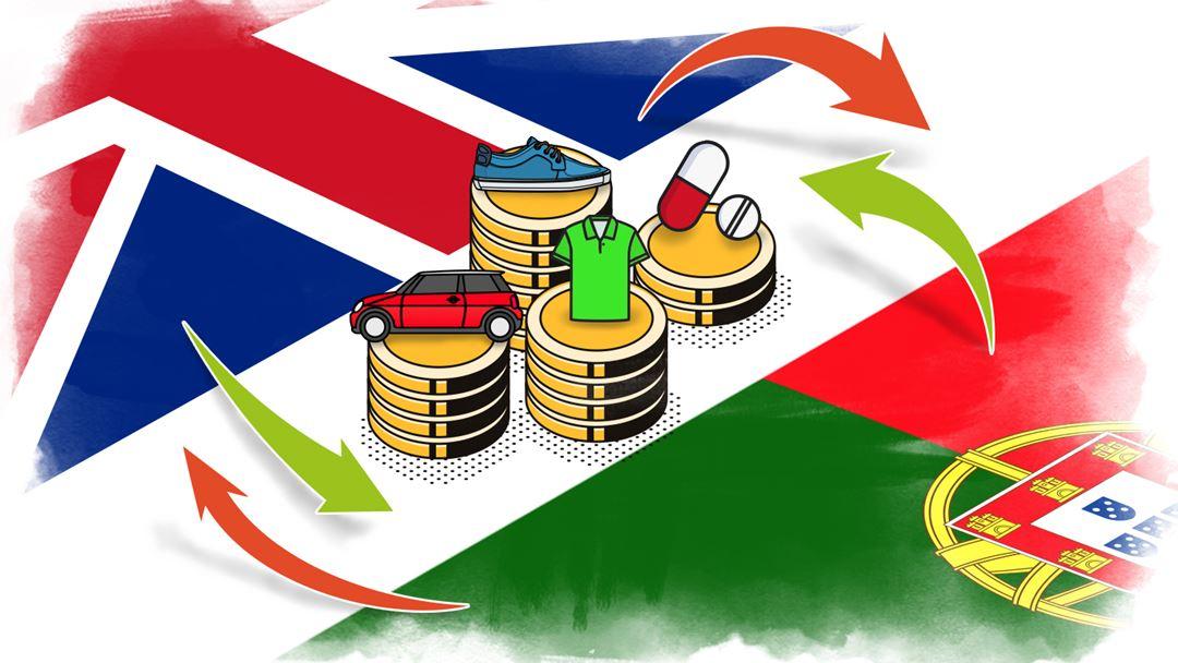 As exportações portuguesas podem cair até 26% para o Reino Unido. Imagem: Rodrigo Machado/RR