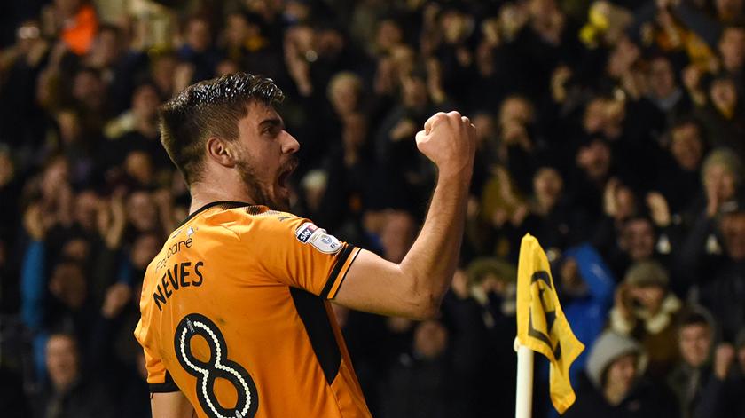 Rúben Neves estreou-se na I Liga inglesa com um grande golo. Foto: Wolves