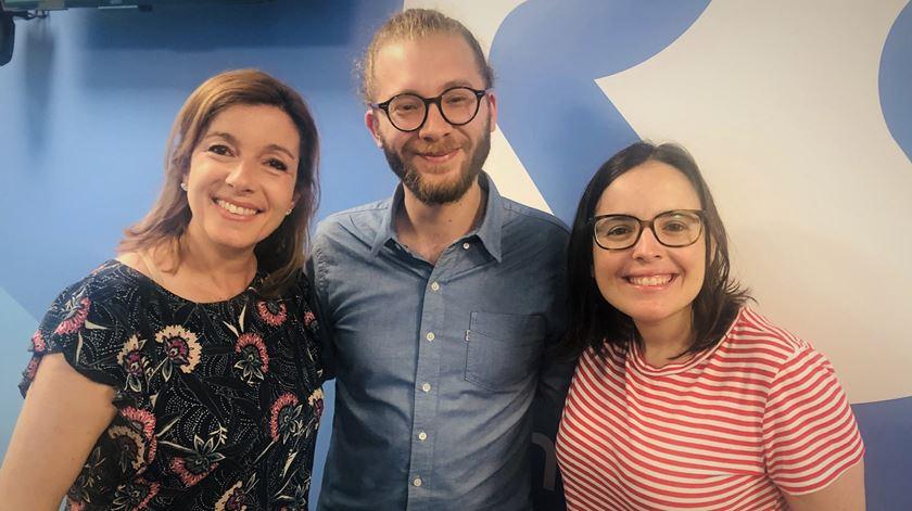 Nuno Moniz com Carla Rocha e Joana Marques