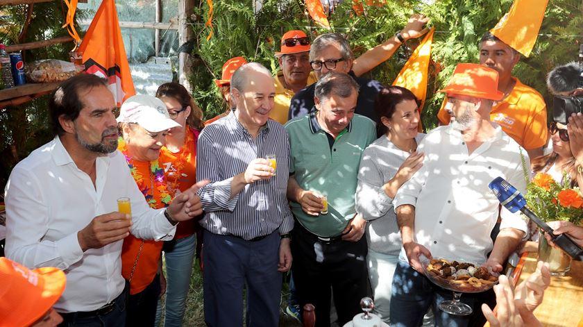 """Costas e Cristas escolheram a Madeira para a """"rentrée"""" partidária, Madeira essa onde Rio já esteve, na festa do Chão da Lagoa. Foto: Homem de Gouveia/Lusa"""