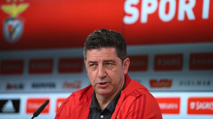 Rui Vitória confiante na vitória do Benfica. Foto: Lusa